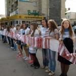 На фестивале «Вышитые обереги единения» составили самый длинный рушник