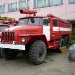 В Луцке перевернулась пожарная машина