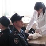 Военнослужащие Волыни сдали 7 литров крови для онкобольных детей